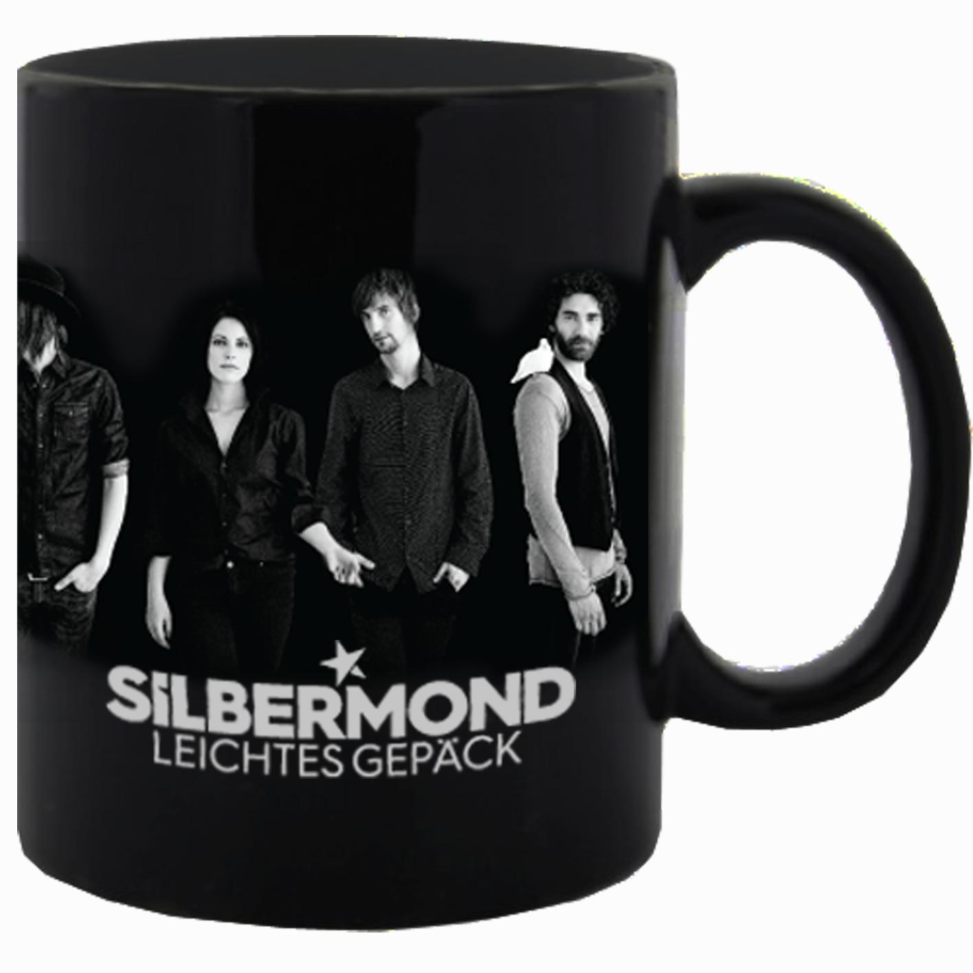 Silbermond Foto Tasse Tasse schwarz