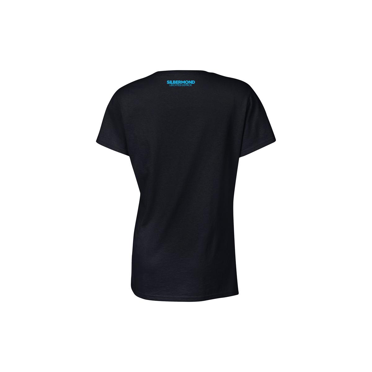 Silbermond Star Girl T-Shirt Girlie Schwarz