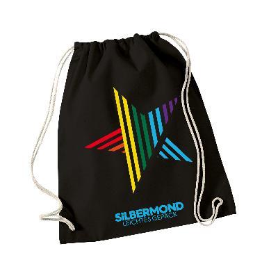 Silbermond Stern Gymbag Tasche Schwarz