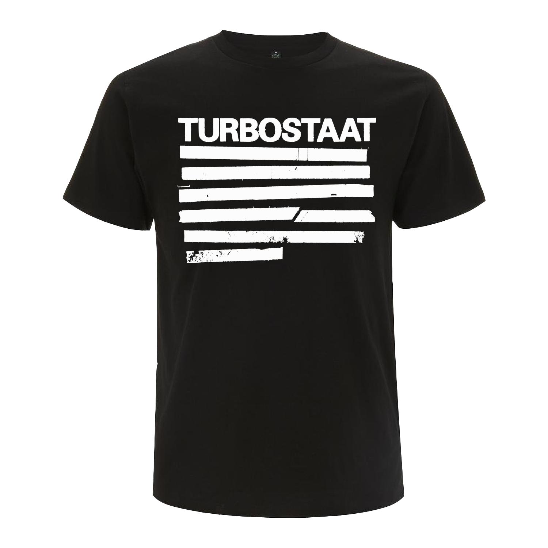 Turbostaat Balken (Herren) Shirt, BIO schwarz
