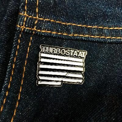 Turbostaat Balken Pin Others schwarz, silber, weiß