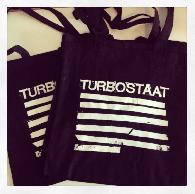 Turbostaat Tote Bag Stripes Bag black