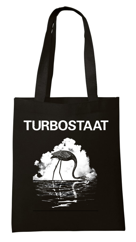 Turbostaat Schwan-Flamingo-Beutel Bag schwarz