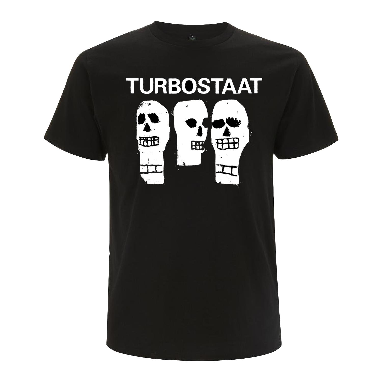 Turbostaat Kerle (Herren) Shirt, BIO schwarz