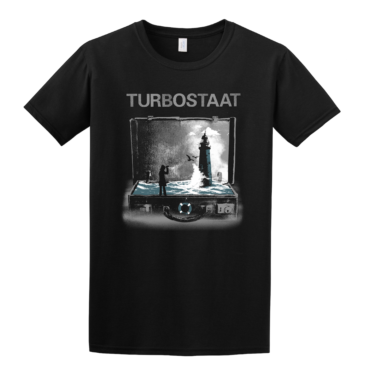 Turbostaat Leuchtturm (Herren) XXL T-Shirt, schwarz