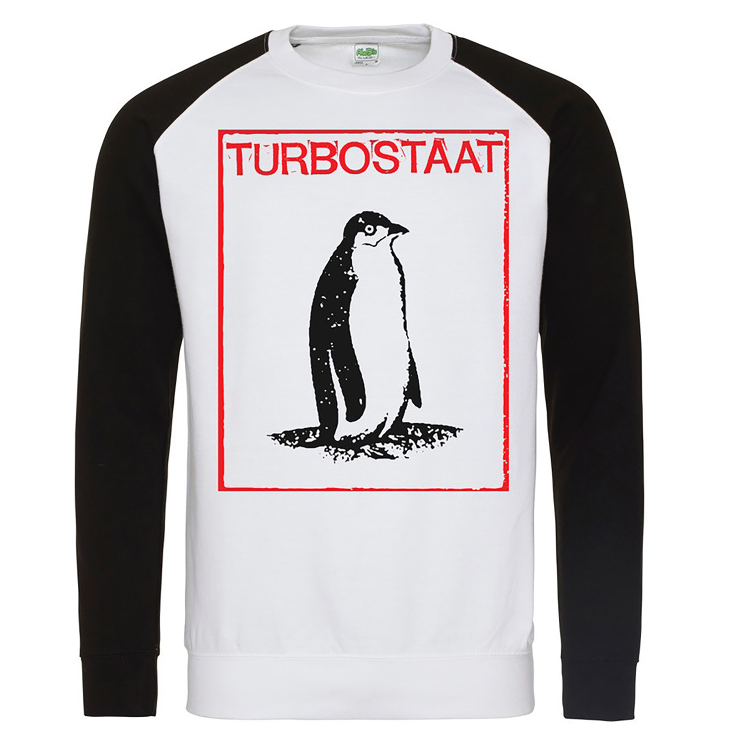 Turbostaat Pinguin Sweater schwarzweiss