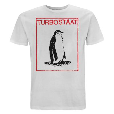 Turbostaat Pinguin Herren T-Shirt weiß