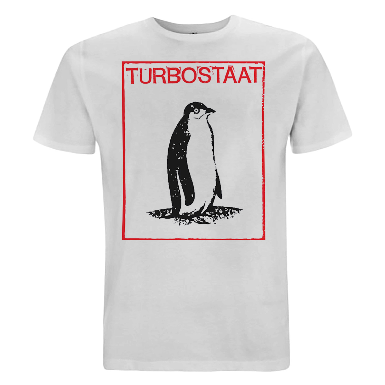 Turbostaat Pinguin T-Shirt, weiß