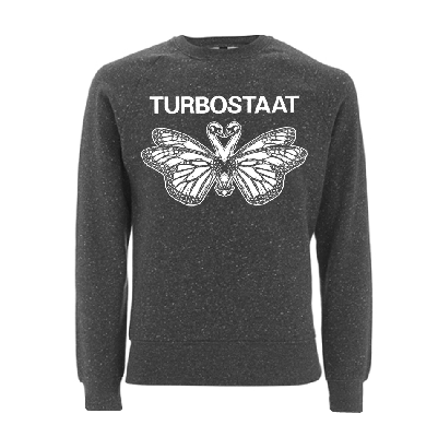 Turbostaat Schmetterschwan Sweater RESTGRÖSSE Pullover BIO black twist