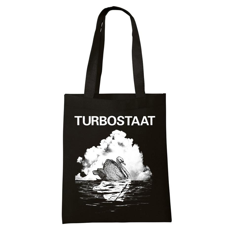 Turbostaat Schwan Beutel Bag, schwarz