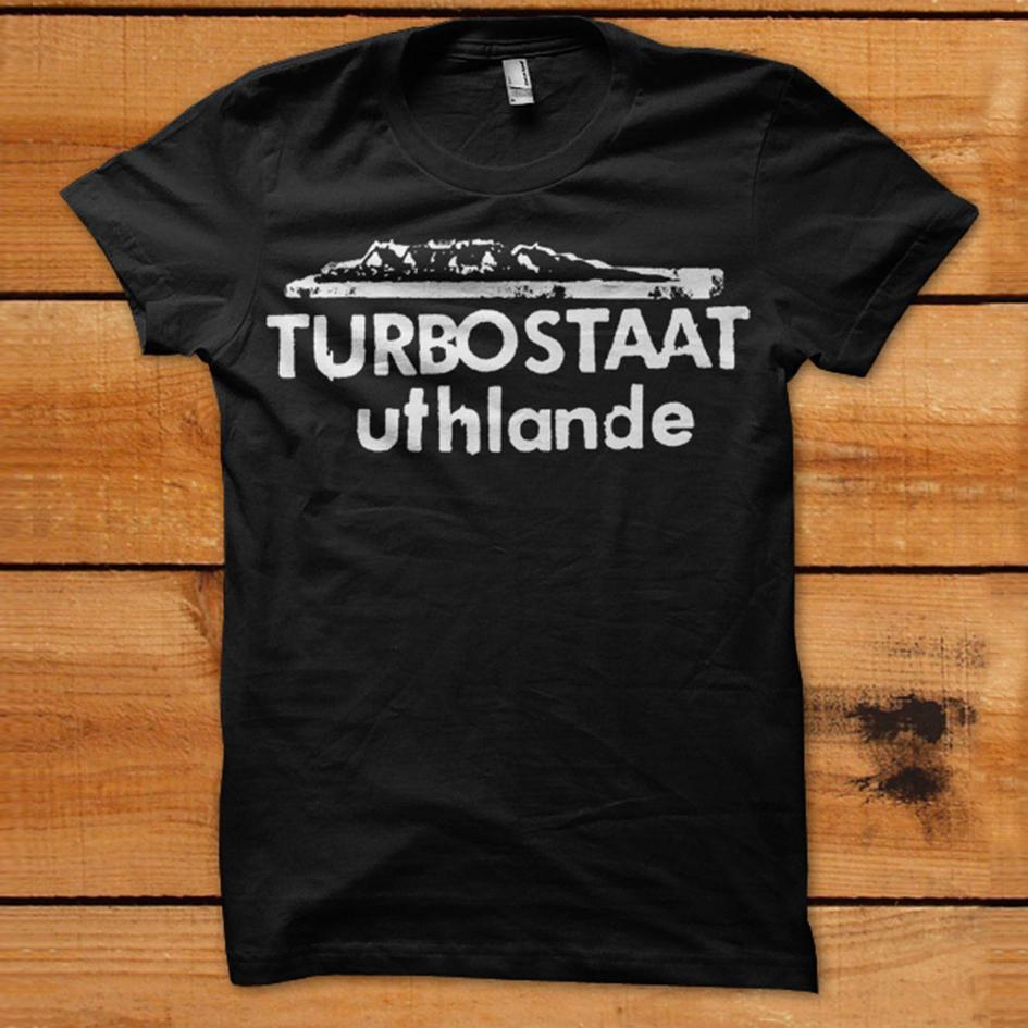 Turbostaat Uthlande unisex T-Shirt, schwarz